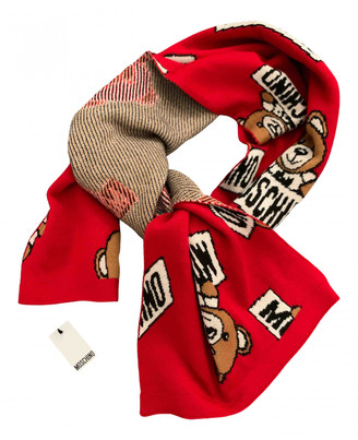 Moschino Red Wool Scarves