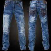 Affliction Ace Fleur Slim Straight Denim 34