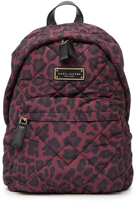 Marc Jacobs Quilted Nylon Printed Backpack