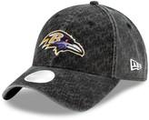 New Era Women's Black Baltimore Ravens Vintage Pretty 9TWENTY Adjustable Hat