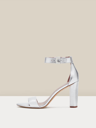 Diane von Furstenberg Chainlink 90 Metallic Leather Sandals