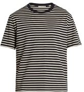 Vince Striped Cotton-jersey T-shirt