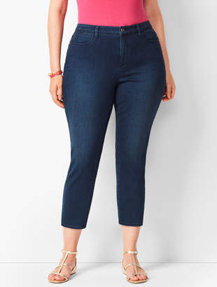 Talbots Plus Size Denim Jegging Crops - Atmosphere Wash - Curvy Fit