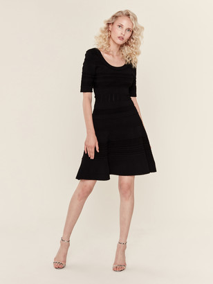 Milly Textured Tech Flare Dress