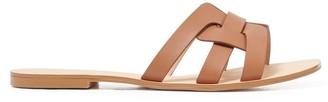 Forever New Ashley Woven Slide Sandals - Tan - 36