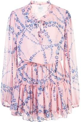 MISA Floral-Print Mini Dress
