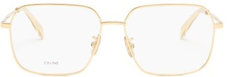 Celine Square Metal Glasses - Gold