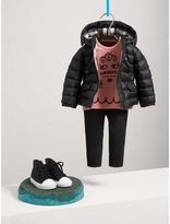 Burberry Shower-resistant Hooded Puffer Jacket , Size: 3Y, Black