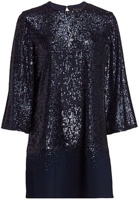 Ahluwalia Three-Quarter Sleeve Sequin Dress