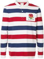 Kent & Curwen striped shirt with rose detail