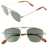 Givenchy Men's 51Mm Navigator Sunglasses - Gold