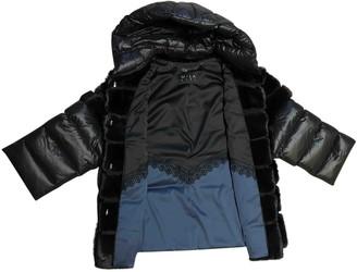 Mila Louise Black Mink Coat for Women