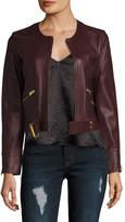 IRO Women's Broome Leather Seamed Motorcycle Jacket