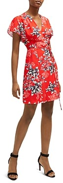 French Connection Coletta Floral Print Mini Wrap Dress