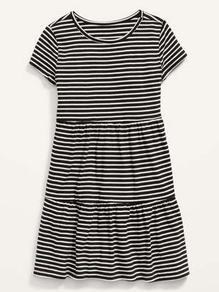 Old Navy Tiered Jersey Fit & Flare Dress for Girls