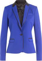 Barbara Bui Wool Blazer with Leather