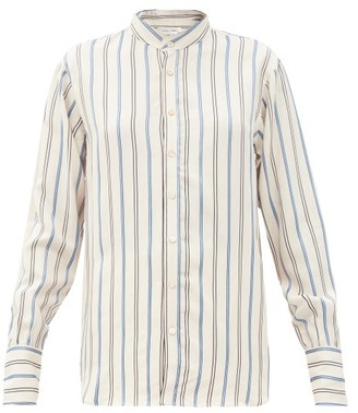 Wales Bonner Gladstone Stripe-jacquard Twill Shirt - White Multi