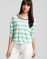 Joie Top - Mandreon Striped Linen