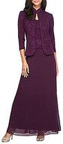 Alex Evenings 2-Piece Jacquard Jacket Dress