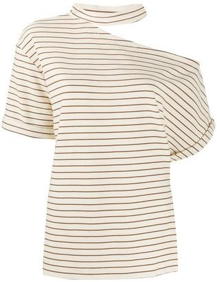 Erika Cavallini asymmetric striped T-shirt