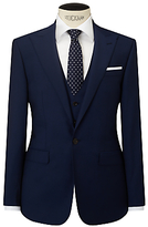 John Lewis Woven In Italy Half Canvas Mohair Tonic Tailored Suit Jacket, Blue