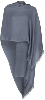 Uk Pashmina Mid Grey Wool and Silk Pashmina