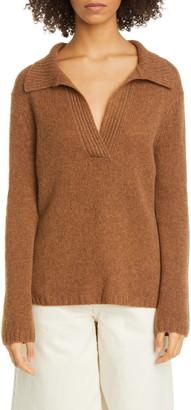 KHAITE Cass Collared Cashmere Sweater