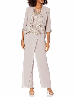 Le Bos Women's 3 Pc Embroidered Sequin Pant Set