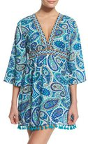 Trina Turk Provence Paisley-Printed Tunic Coverup
