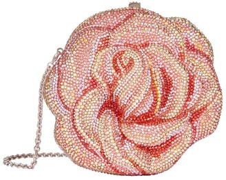 Judith Leiber Crystal Rose Minaudiere Clutch