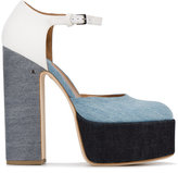 Laurence Dacade Lila denim pumps - women - Cotton/Leather - 36