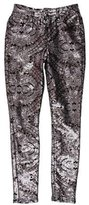 7 For All Mankind Mid-Rise Sequin Pants