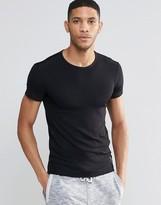 HUGO BOSS BOSS By Muscle Fit Rib T-Shirt In Black