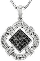 FINE JEWELRY 1/3 CT. T.W. White and Color-Enhanced Black Diamond Pendant Necklace