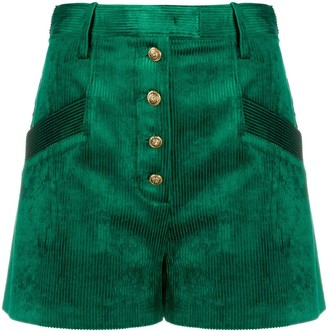 Pinko High-Waisted Corduroy Shorts