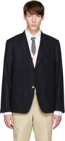 Thom Browne Navy Sack Whale Icon Blazer