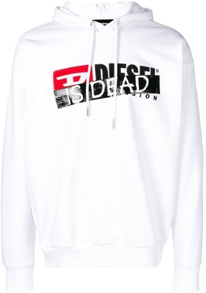 Diesel 'Is dead' print hoodie