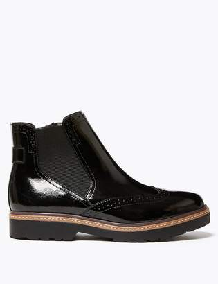 M&S CollectionMarks and Spencer Leather Brogue Chelsea Boots