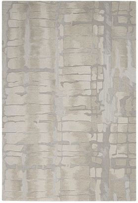 """Nourison Symmetry Contemporary Area Rug, Ivory and Beige, 8'6""""x11'6"""""""