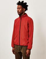 The Idle Man Hooded Packaway Windbreaker Red