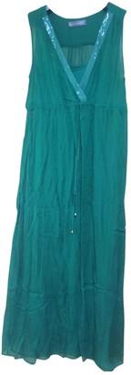 Hallhuber Green Silk Dress for Women