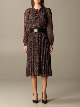 Liu Jo Longuette Dress With Floral Pattern