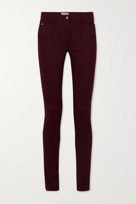 JAMES PURDEY & SONS Mid-rise Slim-leg Jeans - Burgundy