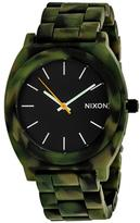 Nixon Time Teller A327-1428 Women's Green Camo Acetate Watch
