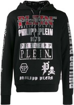 Philipp Plein all over logo hoodie