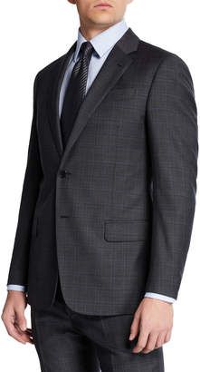 Emporio Armani Men's Super 140s Plaid Two-Piece Suit
