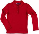 Chaps Girls 4-6x Ruffled Placket School Uniform Polo