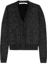 Diane von Furstenberg Adelyn Metallic Wool-Blend Cardigan