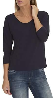 Betty & Co. Three-Quarter Sleeve Jersey Top, Sapphire