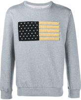 Palm Angels Embroidered Flag Sweatshirt - men - Cotton - S